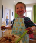messy sensory baking